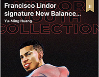 Francisco Lindor signature New Balance Youth Cleat