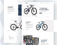 Bicycle landing page design