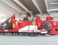 Luis Pérez Companc turned with Schumacher's Ferrari