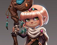 Personal Project / Kobold Mage Character Design
