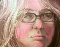 chalk pastel self portrait