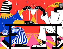 Illustrations for STRELKA MAG