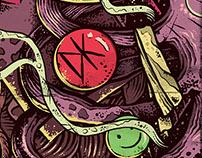 Poster Noite Fora do Eixo - FSA - BA. Ilustration
