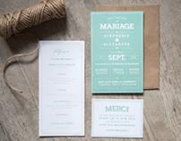 Papeterie de mariage de S&A