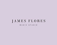 James Flores Music Studio 〰️ Brand identity design