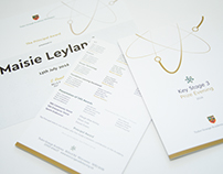 Awards Booklet & Certificates