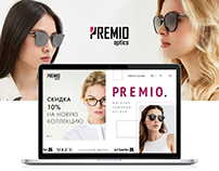 web-design shop premio optics