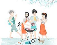 Editorial illustrations Margriet 2017