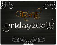 free font Prida02Calt