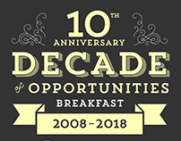 Decade of Opportunities event branding