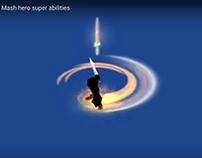 Hero skills. Visual effects for MazeMash