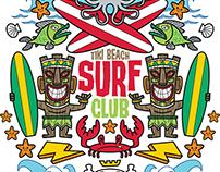 Tiki Beach Surf Club art