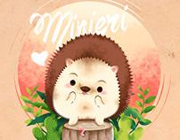 Minieri - Hedgehog cute illustration