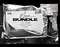 Plastic Wrap & Torn Paper Bundle by Marie T