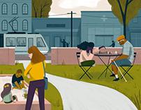 Happy Community Illustration