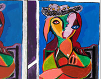 Picasso's Femme Assise in complement