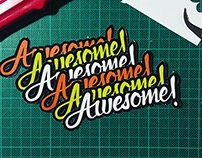 Awesome Lettering Stickers