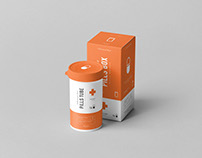Pills Tube & Box Mock-up