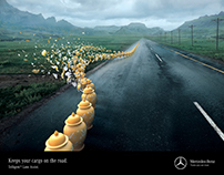 Mercedes-Benz Trucks Disaster Averted Print Campaign