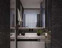 Master Bathroom  Sunshine Apartmentby K-Render Studio