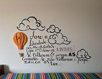 Lettering em parede