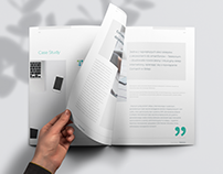Business brochure design - Corporate case study