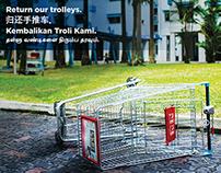 "NTUC FairPrice ""Trolley Return"" Poster Series"
