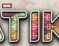 Batik 3D Text Effect Photoshop Template