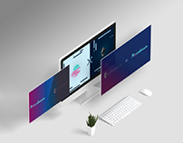 Banners for crypto company Moonbeam