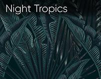Night Tropics seamless patterns