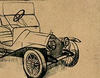 Vintage Car Sketches