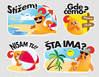 Vipsi Viber Stickers - Summer Edition