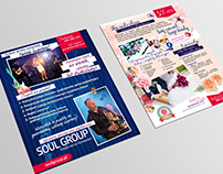 Kwiatostan | Soul Group flyer design 2in1