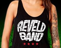 Logotipo, ilustraciones y publicidad de #Reveldband