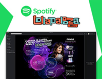 Spotify Music Lollapalooza | UX