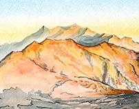 Estrella Mountain Regional Park - Watercolor