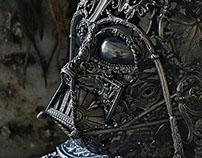 Darth Vader silver side