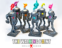 THE WALKING PAINT arttoy by Emilio Subirá