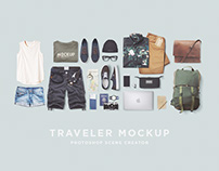 Traveler Mockup PSD Freebie