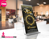 New Year Party DL FLYER PSD Template