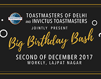 Poster Series for Big Birthday Bash