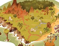 Illustration livre jeunesse /ile aux pirates