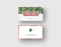"""Business Card """"Monstera Leaf & Rosegold Foil"""""""
