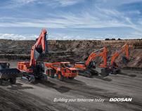 Doosan Infracore emerging marketpromotion ad. design