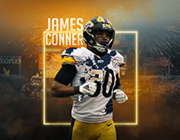 James Conner University of Pittsburgh Homage