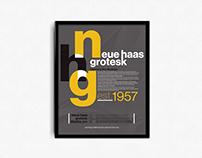 Neue Haas Grotesk Poster