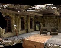 Abandoned room. Digital art.