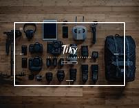 Tiky | Free photographer portfolio template