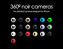 360º noir Camera Icons