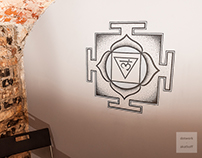 Muladhara yantra dotwork mural